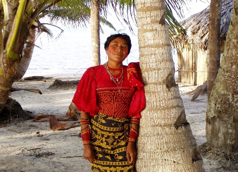 San Blas Islands Panama Canal - Cuna Lady