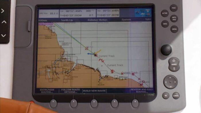 Chart plotter - Brazil coast