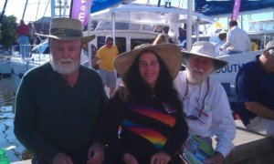 Larry & Lin Pardey with Don Street