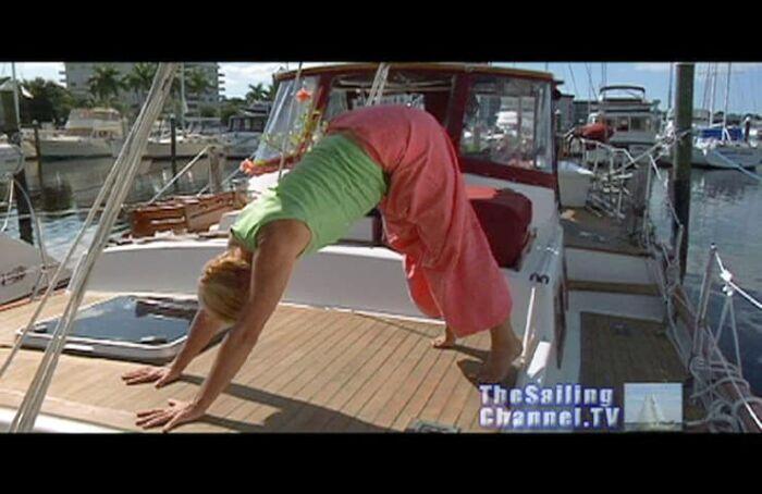 Yoga for Sailors Downward Facing Dog