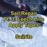 Sail Repair Pt. 3 - Leach Line Tape