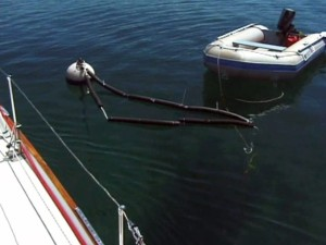 Picking up a mooring