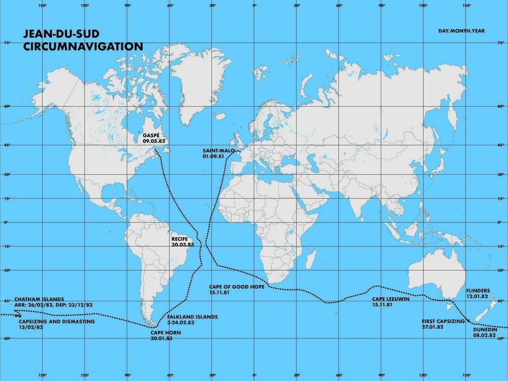 Map of Jean-du-Sud Circumnavigation