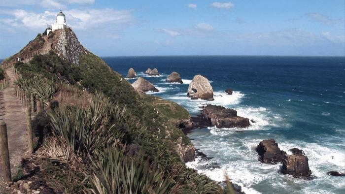 New Zealand's rocky coast