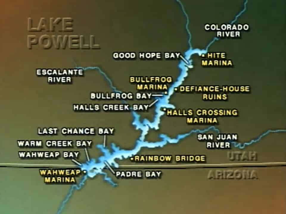 US Canada Lakes Cruising Video - Lake powell on us map